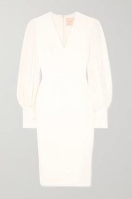 Roksanda Essi Tulle-trimmed Crepe Midi Dress - Ivory