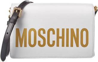 Moschino Logo Printed Leather Crossbody