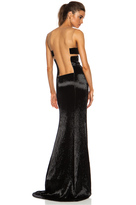 Kaufman Franco KAUFMANFRANCO Liquid Glass Column Gown