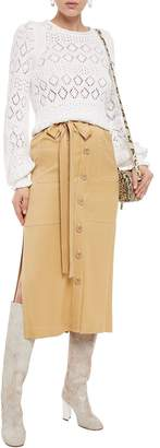 See by Chloe Belted Twill Midi Skirt