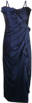 Jonathan Simkhai gathered ruffle midi dress