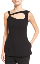 Escada Sleeveless Cutout Tunic, Black