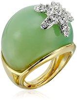 Kenneth Jay Lane Jade-Color and Rhinestone Starfish Adjustable Ring