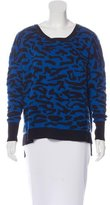 Sandro Wool-Blend Patterned Sweater