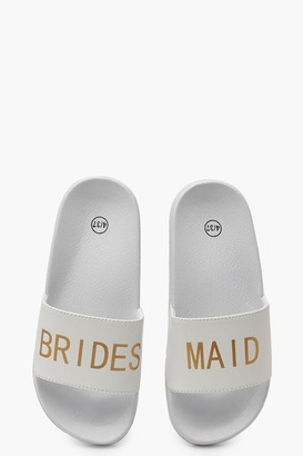 boohoo Bridesmaid Slogan Slides