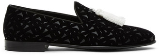 Burberry Black Velvet Flavio Tassel Loafers