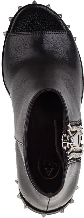 Ash Patty Ankle Boot Black Leather