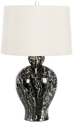 One Kings Lane Bradburn Home For Marbled Table Lamp - Black/White