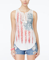 American Rag Americana Lace-Up Tank Top, Only at Macy's