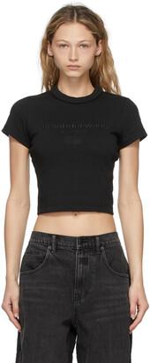 Alexander Wang Black Embroidered Scuba T-Shirt