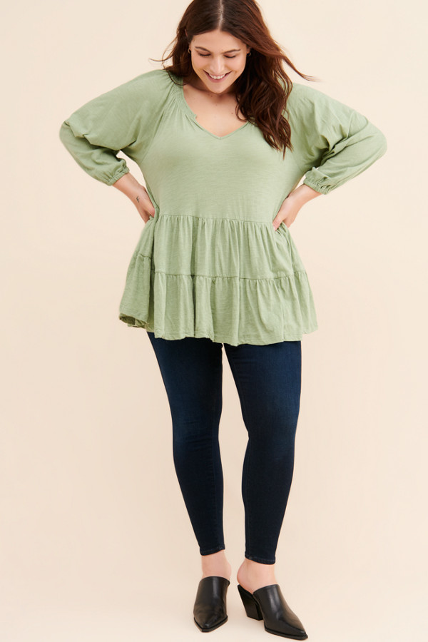 Plus Size Babydoll Tops Shop The World S Largest Collection Of Fashion Shopstyle