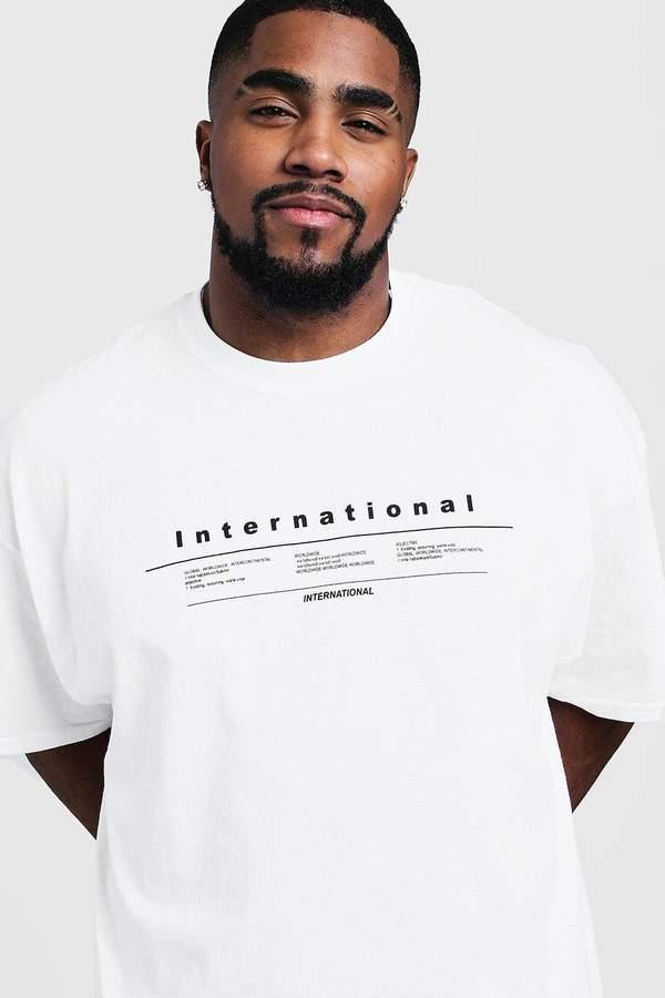 boohoo Big & Tall International Print T-Shirt