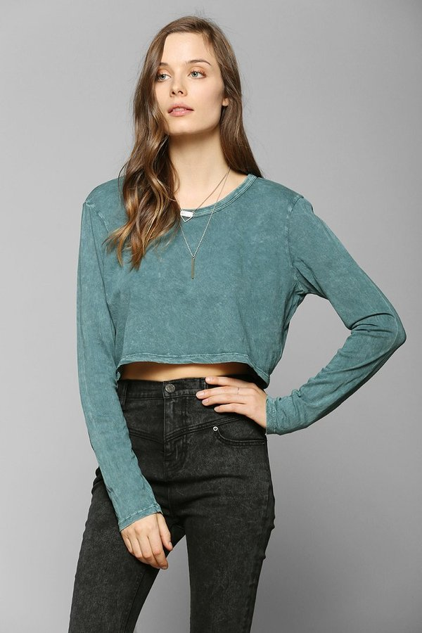 Truly Madly Deeply Long-Sleeve Super-Cropped Tee