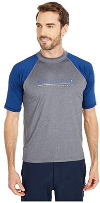 Rip Curl Shockwave Relaxed Short Sleeve UV Tee (Grey Blue/Asphalt) Men's Swimwear