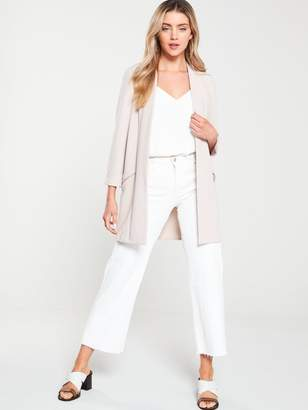 Wallis Zip Pocket Longline Blazer - Neutral