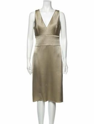 Celine Silk Midi Length Dress Gold