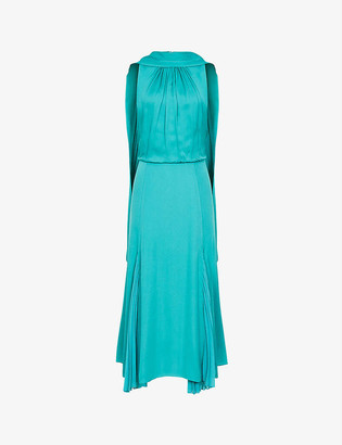 Reiss Jenna neck-tie crepe dress