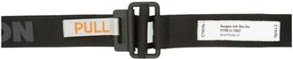 Heron Preston Black Logo Tape Belt