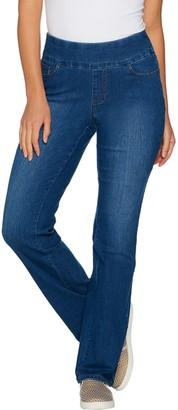 Denim & Co. Perfect Denim Tall Smooth Waist Lightly Bootcut Jeans