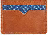 John Lewis Paisley Leather Cardholder, Tan