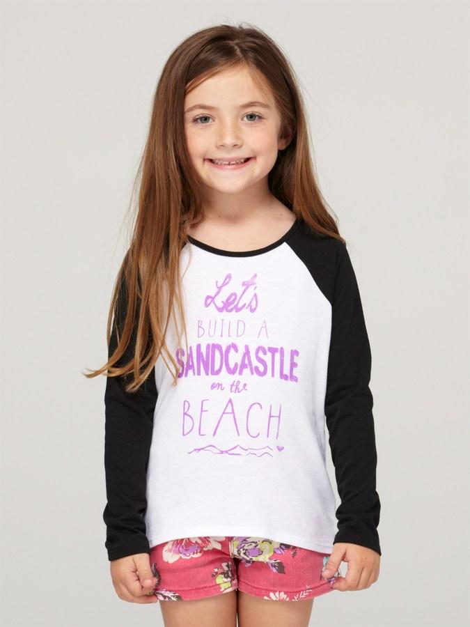 Roxy Girls 2-6 Oh Yeah Long Sleeve Baseball Tee Shirt