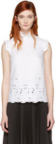 Erdem White Mika Shell Top