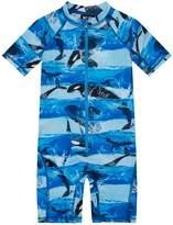 Molo Killer Whale Print Swimsuit