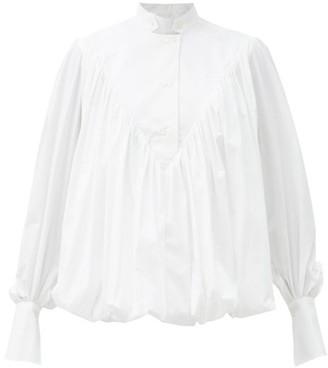 Palmer Harding Palmer//harding - Ateles Mock-neck Stretch-cotton Poplin Shirt - White