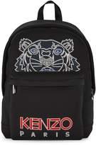 Kenzo Black tiger-print neoprene backpack