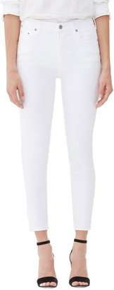 Citizens of Humanity Rocket Crop High-Rise Skinny Jeans, White Sculpt