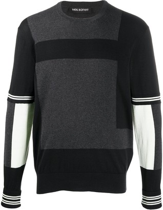 Neil Barrett block color knitted sweater