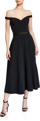 Jason Wu Collection Off-the-Shoulder Stretch Crepe Dress