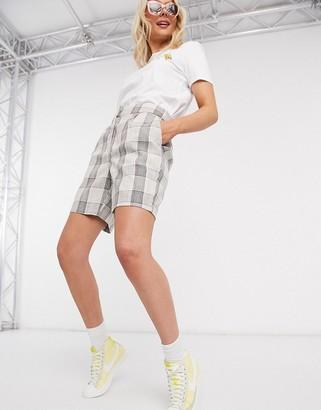Vero Moda tailored shorts in check