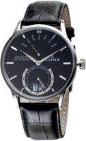 Edox Men's Les Vauberts 40mm Leather Band Steel Case Quartz Watch 34001 3nin