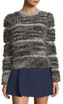 Carven Fuzzy Stripe Sweater