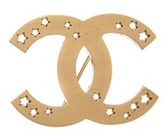 Chanel Gold-tone Star Cc Pin.