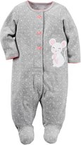 """Carter's Baby Girls' """"Mouse Dot"""" Terry Coverall"""