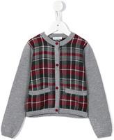 Dolce & Gabbana tartan check cardigan - kids - Virgin Wool - 4 yrs