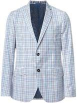 Etro woven check blazer - men - Silk/Cotton - 54