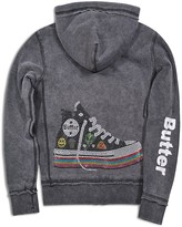 Butter Shoes Girls' Reversible High Top Sneaker Embellished Hoodie - Sizes S-XL