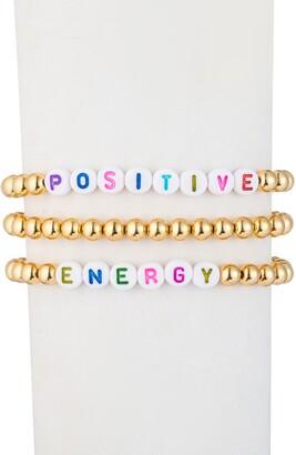Eye Candy Los Angeles Positive & Energy Titanium Beaded Bracelet