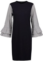 Clu Striped Cotton Poplin-Paneled Cotton-Jersey Mini Dress