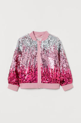 H&M Sequined Bomber Jacket - Pink