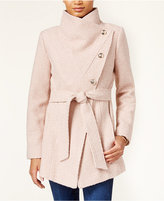 Jessica Simpson Asymmetrical Button-Front Wrap Coat