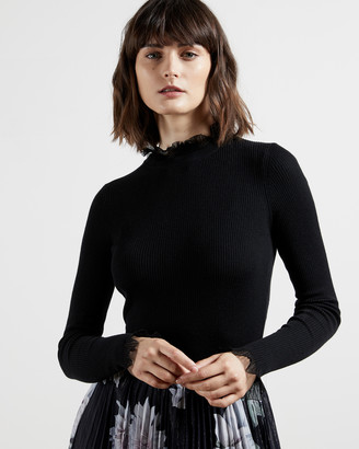 Ted Baker DVANA Frill neck detail sweater