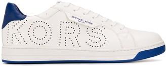 Michael Kors Low Top Perforated Logo Sneakers