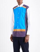Comme des Garcons Contrast-panel regular-fit cotton shirt