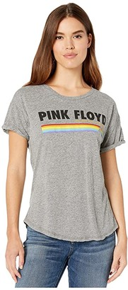 The Original Retro Brand Pink Floyd Rolled Short Sleeve Tee (Mocktwist Heather Grey) Women's Clothing