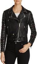 Scotch & Soda Studded Leather Moto Jacket