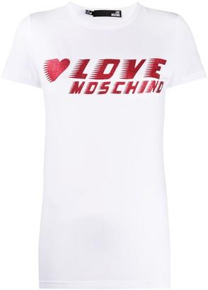 Love Moschino glitter logo T-shirt